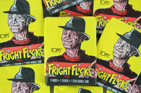 Topps Fright Flicks Collectible Trading Cards, One Wax Pack, Freddy Krueger, 1988