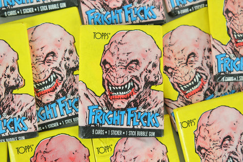 Topps Fright Flicks Collectible Trading Cards, One Wax Pack, Pumpkinhead, 1988 (Free Shipping)