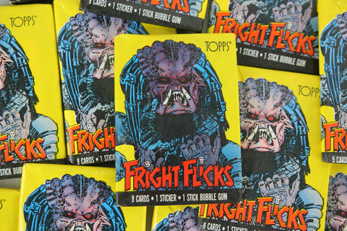 Topps Fright Flicks Collectible Trading Cards, One Wax Pack, Predator, 1988 (Free Shipping)