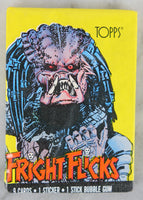 Topps Fright Flicks Collectible Trading Cards, One Wax Pack, Predator, 1988