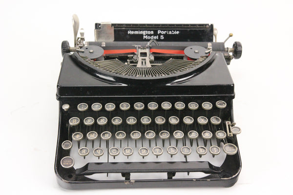 Remington Portable Model 5 Typewriter with Russian Keyboard and Typeface, 1934