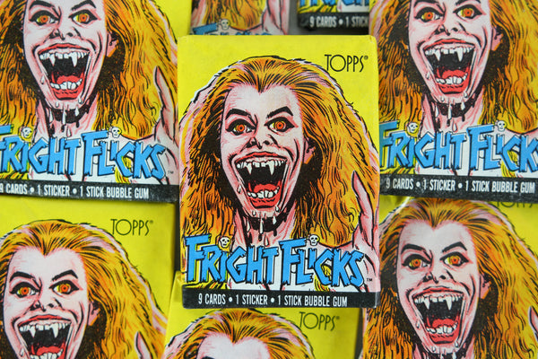 Topps Fright Flicks Collectible Trading Cards, One Wax Pack, Fright Night, 1988