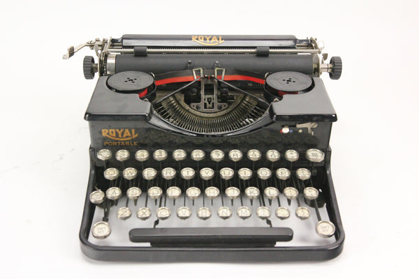 "Royal Portable ""P"" Model Manual Typewriter with Case, Made in USA, 1928"