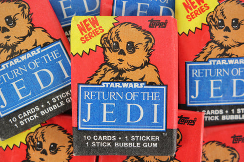 Topps Star Wars Return of the Jedi Series 2 Collectible Trading Cards, One Wax Pack, Ewok Wrapper, 1983 (Free Shipping)