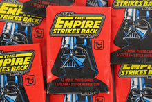 Load image into Gallery viewer, Topps Star Wars The Empire Strikes Back Series 1 Collectible Trading Cards, One Wax Pack, 1980