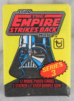 Topps Star Wars The Empire Strikes Back Series 3 Collectible Trading Cards, One Wax Pack, 1980