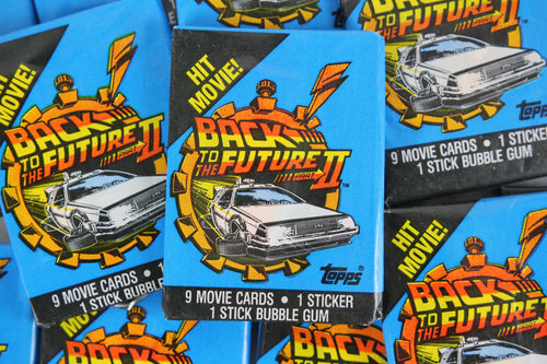 Topps Back to the Future Part II Collectible Trading Cards, One Wax Pack, 1989 (Free Shipping)