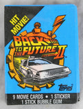 Topps Back to the Future Part II Collectible Trading Cards, One Wax Pack, 1989