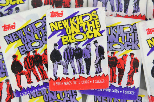 Topps New Kids on the Block Collectible Trading Cards, One Wax Pack, 1989