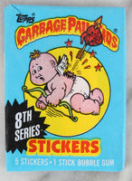 Topps Garbage Pail Kids 8th Series Collectible Trading Card Stickers, One Wax Pack, 1987