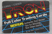TRON Full Color Collectible Trading Cards, One Wax Pack, 1981