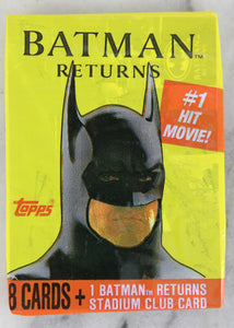 Topps Batman Returns Photo Cards Collectible Trading Cards, One Pack, 1991