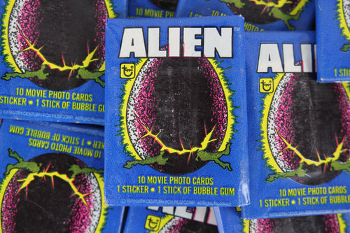 Topps Alien Collectible Trading Cards, One Wax Pack, 1979 (Free Shipping)