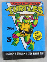 Topps Teenage Mutant Ninja Turtles Collectible Trading Cards, Second Series, One Wax Pack, 1990