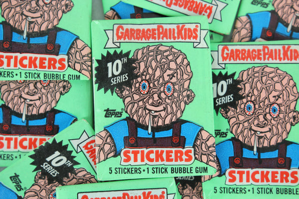 Topps Garbage Pail Kids 10th Series Collectible Trading Card Stickers, One Wax Pack, 1987