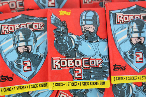 Topps RoboCop 2 Collectible Trading Cards, One Wax Pack, 1990 (Free Shipping)