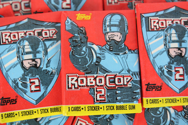 Topps RoboCop 2 Collectible Trading Cards, One Wax Pack, 1990