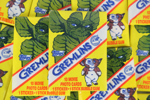 Topps Gremlins Collectible Trading Cards, One Wax Pack, 1984 (Free Shipping)
