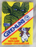 Topps Gremlins Collectible Trading Cards, One Wax Pack, 1984