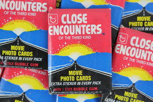 Topps Close Encounters of the Third Kind Collectible Trading Cards, One Wax Pack, 1978