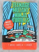 Topps Teenage Mutant Ninja Turtles Movie Photo Cards Collectible Trading Cards, One Wax Pack, 1990