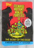 Topps Teenage Mutant Ninja Turtles II Movie Photo Cards Collectible Trading Cards, One Wax Pack, 1991