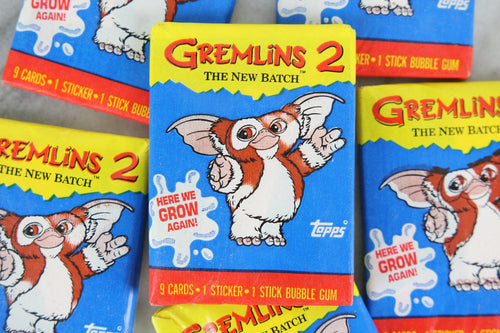 Topps Gremlins 2: The New Batch Collectible Trading Cards, One Wax Pack, Gizmo Wrapper, 1990