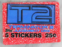 Topps Terminator 2: Judgment Day Collectible Trading Cards, One Wax Pack, 1991