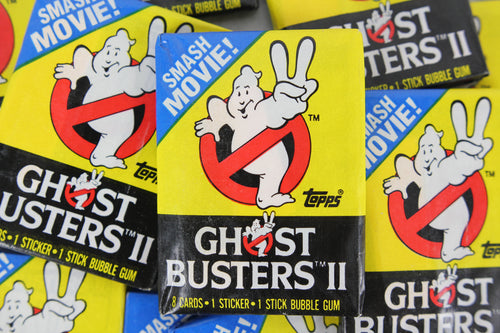 Topps Ghostbusters II Collectible Trading Cards, One Wax Pack, 1989 (Free Shipping)