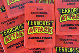 Piedmont Terrorist Attack Educational Collectible Trading Cards, One Wax Pack, 1986