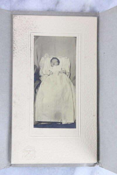 Postmortem Matted Photograph in Folder of a Deceased Baby