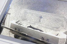 Load image into Gallery viewer, Postmortem Matted Photograph of Little Boy in Coffin with Crucifix