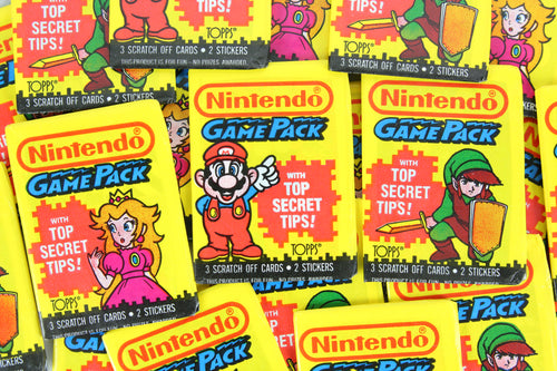 Topps Nintendo GamePack Collectible Trading Cards, One Wax Pack, 1989 (Free Shipping)