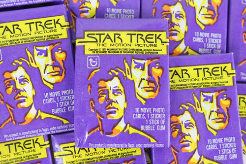 Topps Star Trek The Motion Picture Collectible Trading Cards, One Wax Pack, 1979 (Free Shipping)