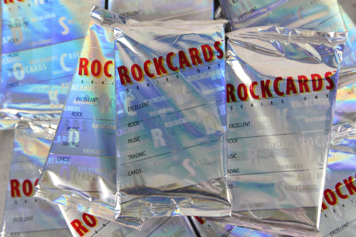 Rock Cards Collectible Trading Cards, One Holographic Pack, 1991