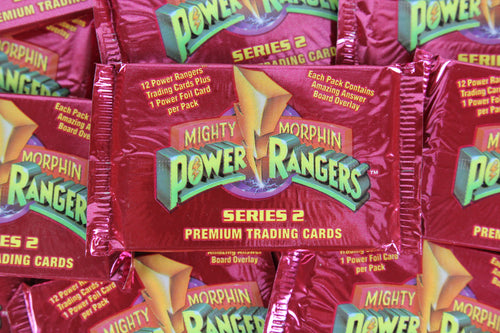 Mighty Morphin Power Rangers Collectible Trading Cards, Series 2, One Pack, 1994 (Free Shipping)