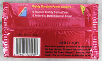 Mighty Morphin Power Rangers Collectible Trading Cards, Series 2, One Pack, 1994