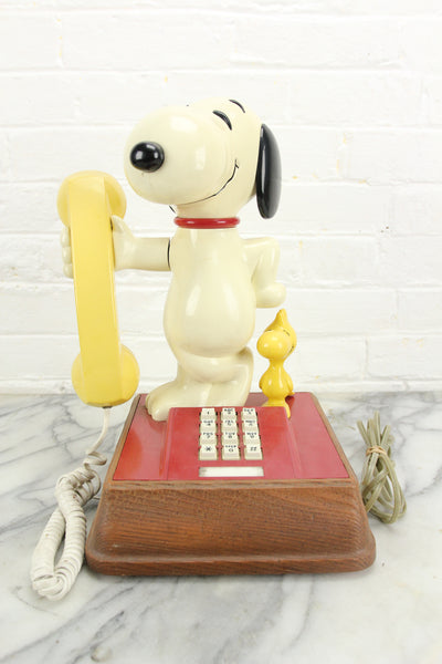 "Peanuts ""The Snoopy and Woodstock Phone,"" Touch-tone Telephone, 1976"