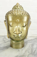 Gold-Tinted Glass Buddha Head