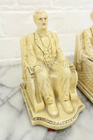 Chalkware Abraham Lincoln Bookends by Roman Art Co. Inc., 1924
