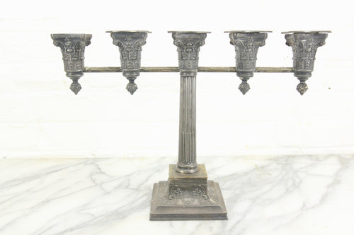 Five-Candle Silverplate Candelabra by Wilcox Silverplate Company