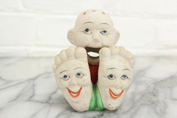 Cheeky Smiling Feet Japanese Bisque Cone Incense Burner