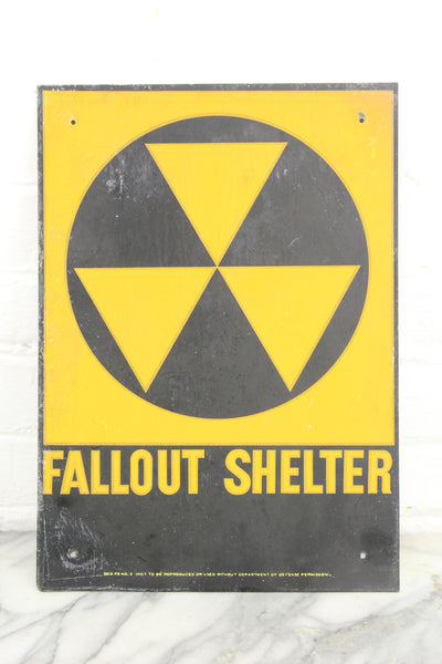 "Official Department of Defense Fallout Shelter Metal Sign, 10"" x 14"""