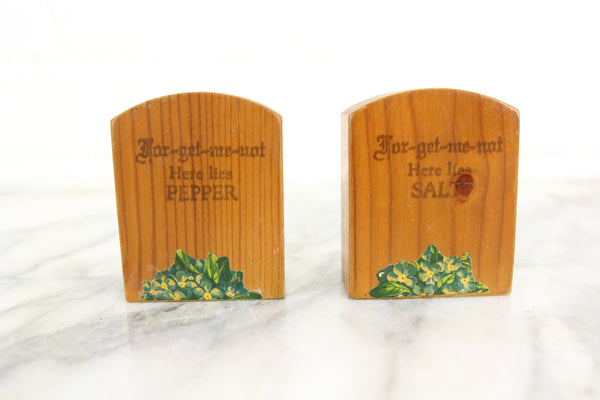 Forget-Me-Not Gravestone Salt and Pepper Shakers
