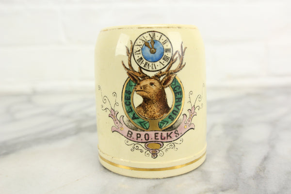 Benevolent and Protective Order of Elks Ceramic Mini Mug, Made in Germany