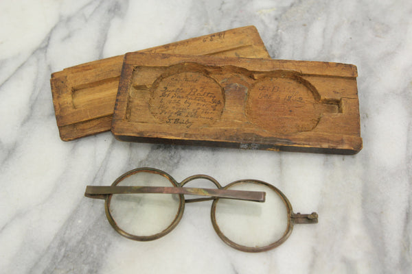 Antique Eyeglasses Captured by Crew of The Frigate Potomac at the Battle of Quallah Battoo, 1832