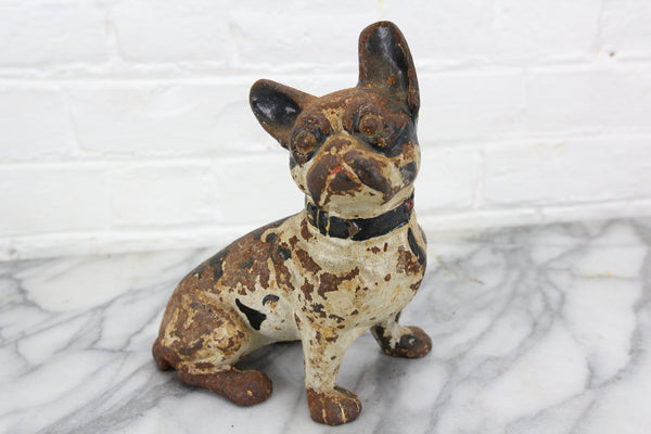 Cast Iron Boston Terrier Dog Door Stop