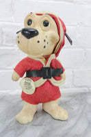 Santa Claus Plastic Dog Coin Bank, Copyright RDF 1968