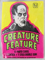 Topps Creature Feature Collectible Trading Cards, One Wax Pack, Phantom, 1980