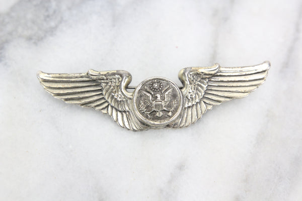 Sterling Silver United States Air Force Enlisted Aircrew Wings Pin